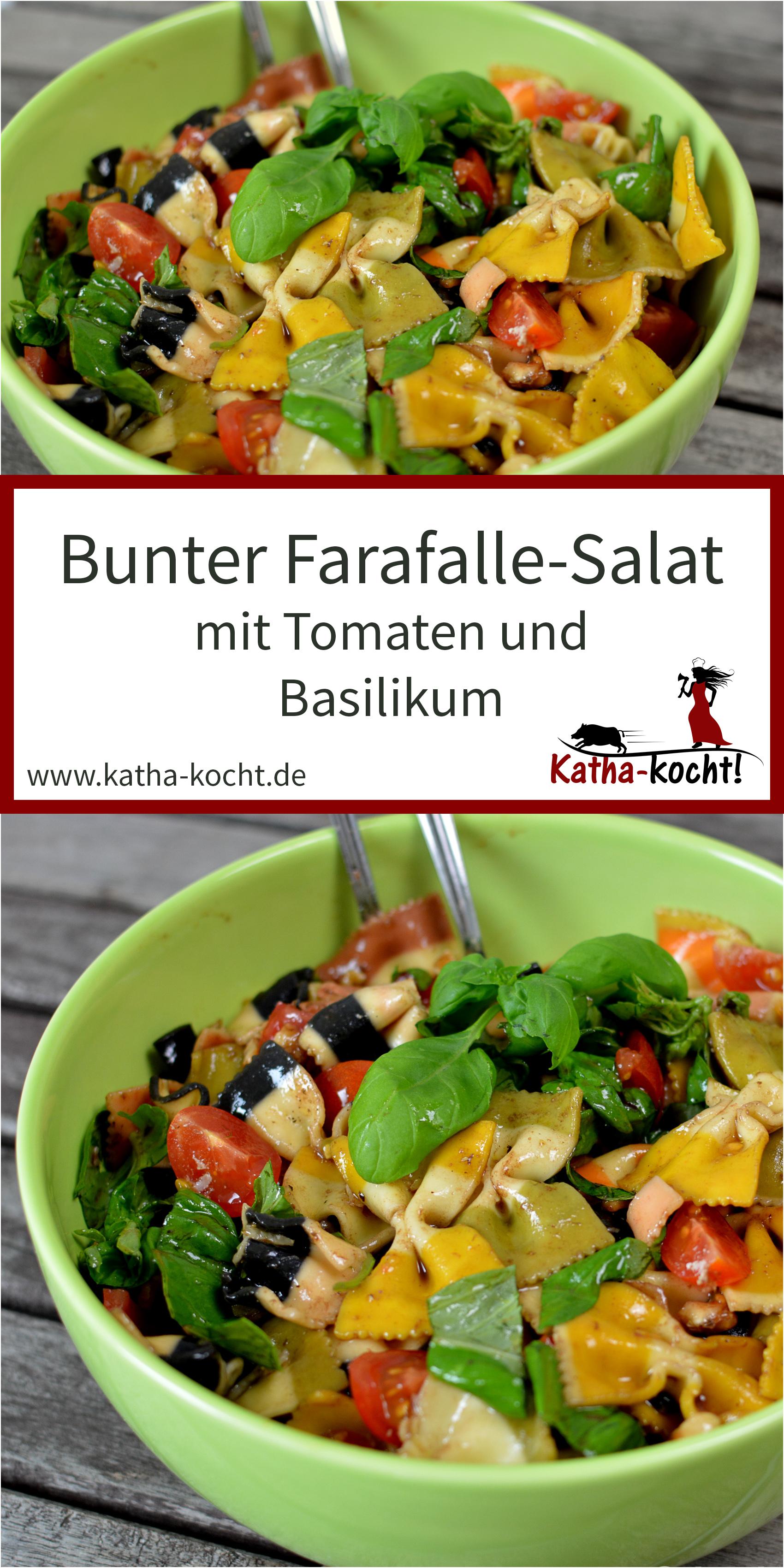 bunter nudelsalat mit walnüssen und tomaten | katha-kocht! - alle
