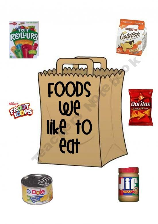 Foods We Like to Eat Environmental Print Book