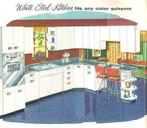 kitchen design 1958 | The 1958 Sears Kitchen Cabinet Catalog ...