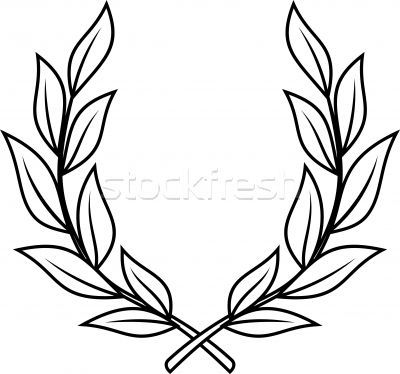 Laurel Wreath Vector Kranz Tattoo Lorbeerkranz 10