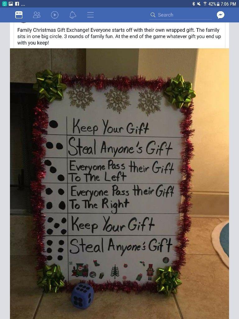 Christmas dice gift exchange game | Christmas | Pinterest ...