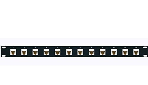 Amazon Com Riteav 12 Port Cat6 White Patch Panel Non 110 Type With Female Female Jacks Electronics White Patches Patch Panel Plates On Wall