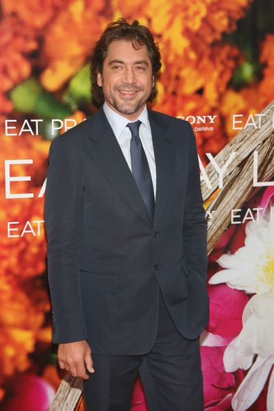 "photo of  actor, Javier Bardem, star of movie ""Eat Pray Love"", co-starring actress, Julia Roberts, at ""Eat, Pray, Love"" movie premiere."