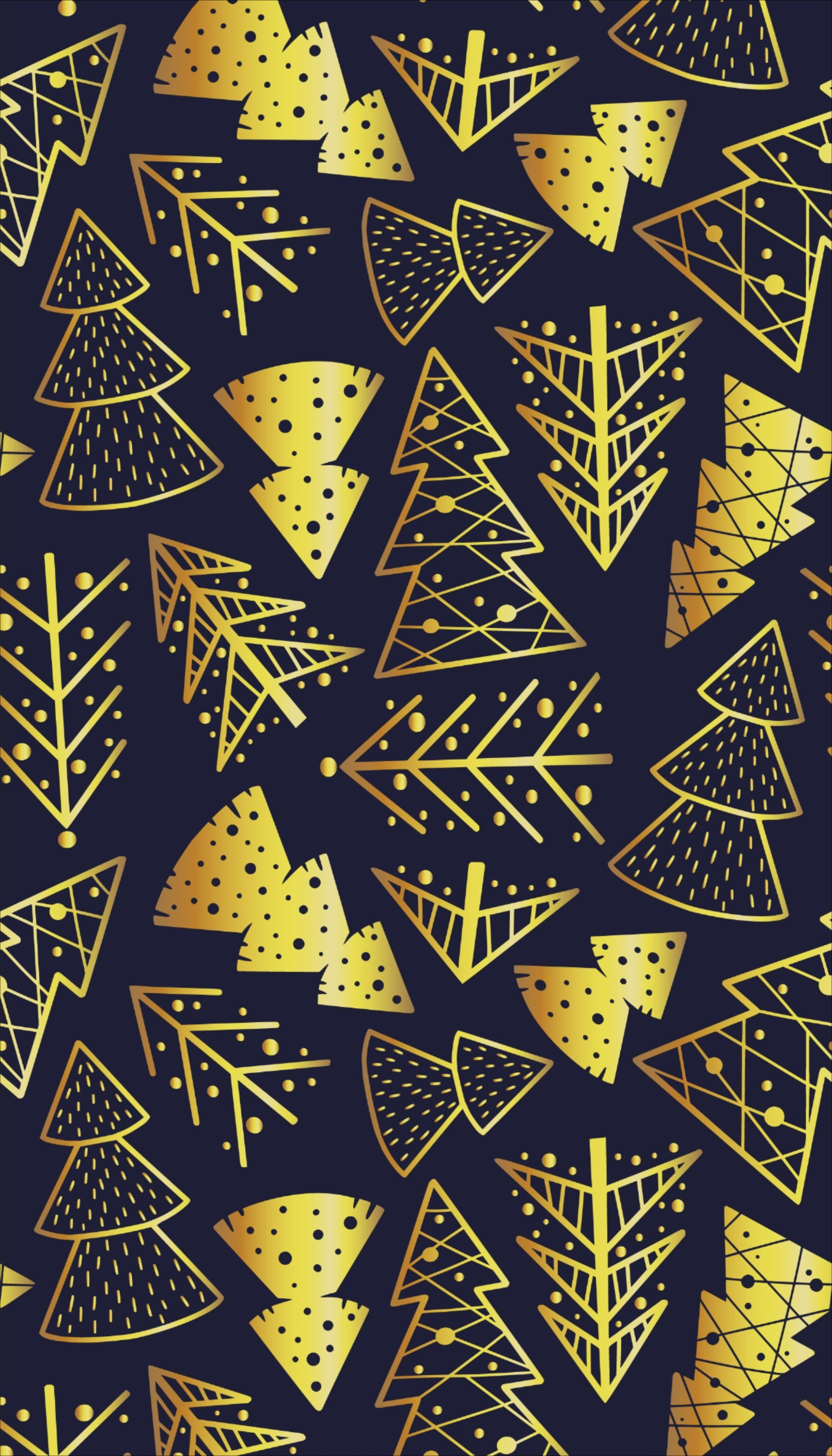 Pattern wallpaper with christmas spruce new year