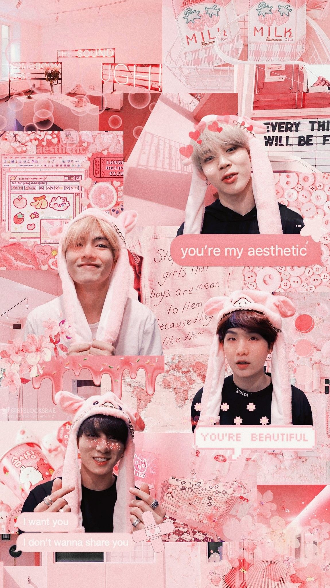 Bts Aesthetic Wallpaper Edit Mochianny Bts Wallpaper