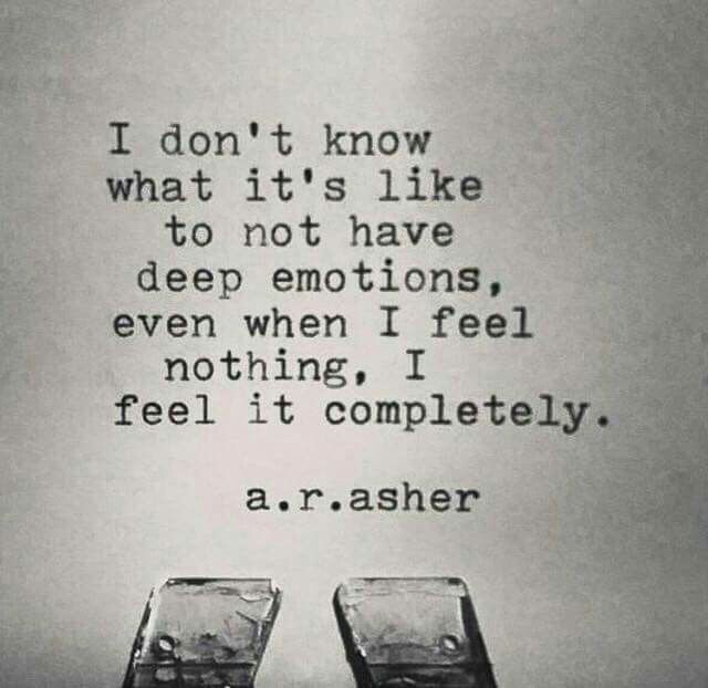 I feel it completely