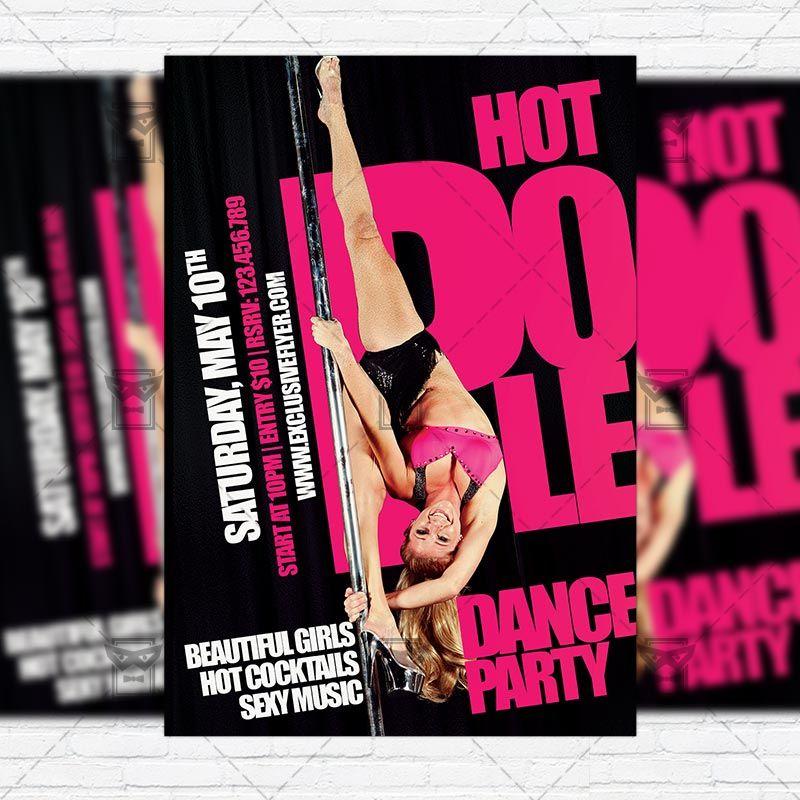 Dance Party - Premium Flyer Template + FRRE BONUS Instagram Size ...