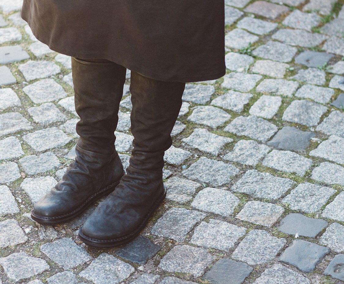 Trippen Steam Damen Stiefel Boots Women Leather Leder black