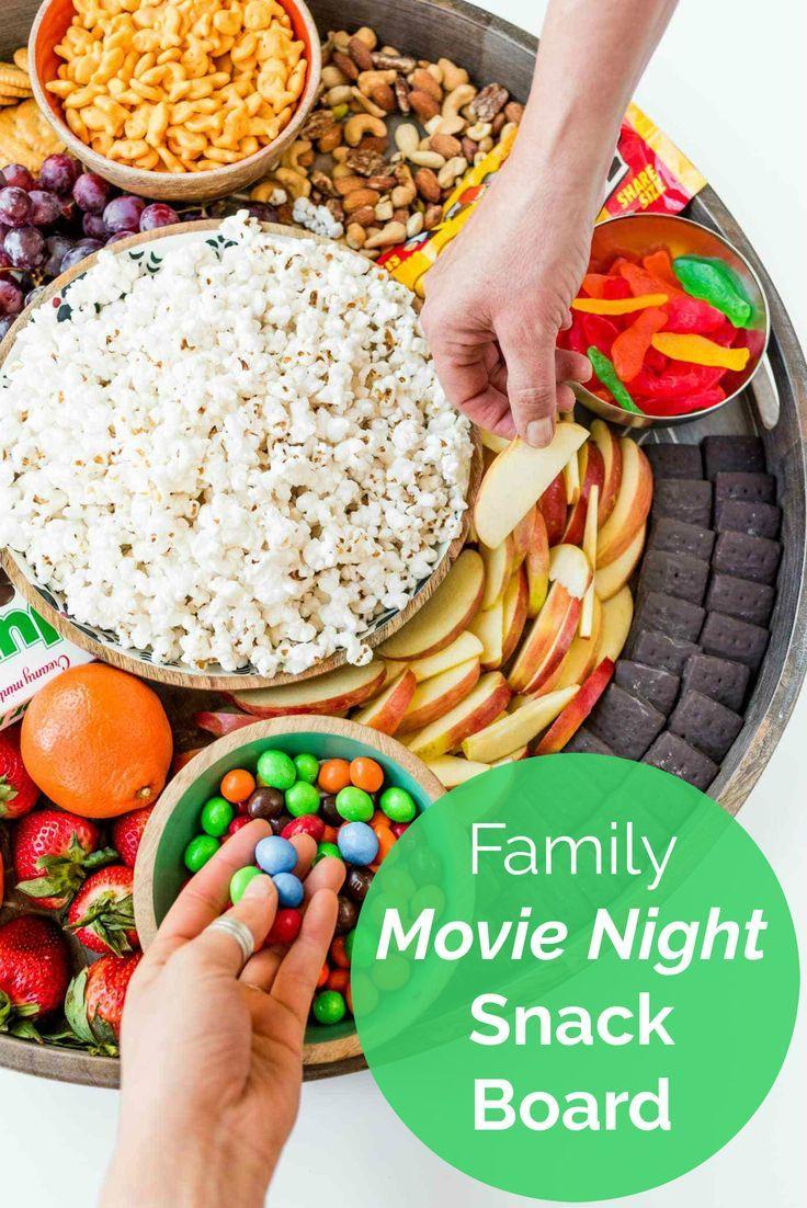 Family Movie Night Snack Board