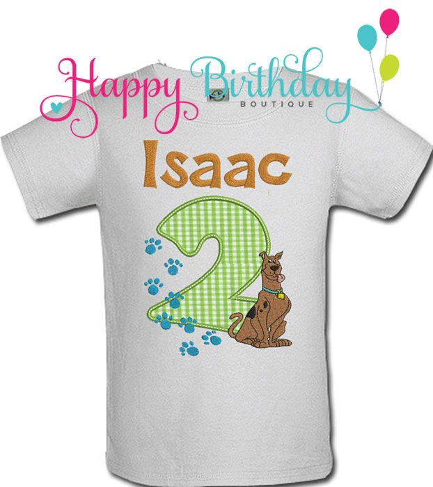 Boys STS ScoobyDoo Birthday Shirt or Onesie Scooby party