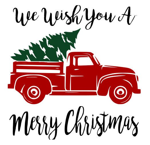 Red Truck And Christmas Tree Svg File Quote By Auntieinappropriate Silhouette Christmas Christmas Truck Christmas Svg