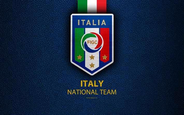 Download Wallpapers Italy National Football Team 4k Leather Texture Emblem Logo Football Italy Europe Besthqwallpapers Com Italy National Football Team Football Team Logos National Football Teams