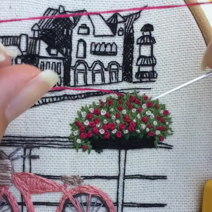 Photo of Stitch around the world with the free Embroidery Design by Charles and Elin