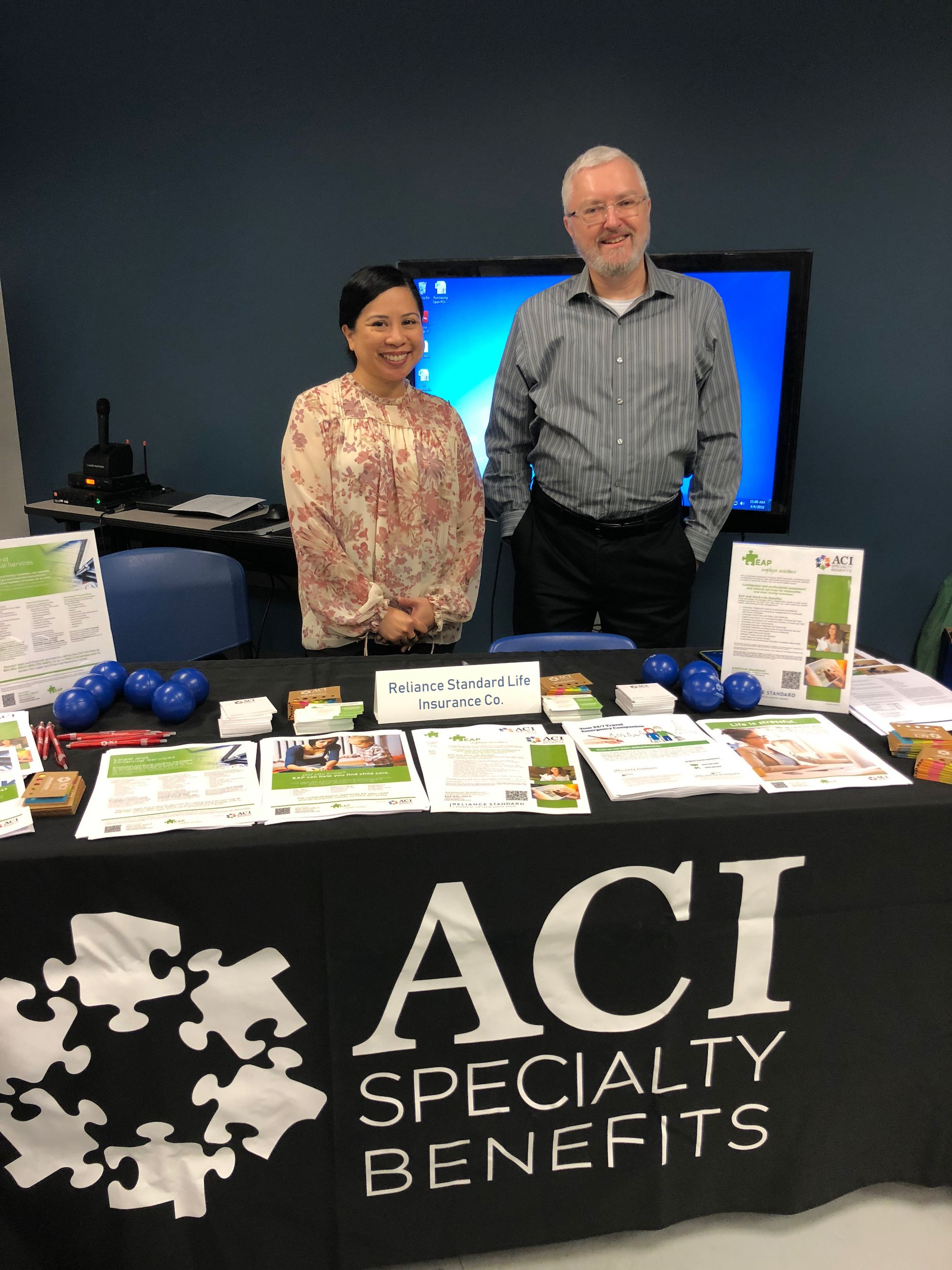 ACI Account Manager Yve is at LISI AEROSPACE's Health Fair