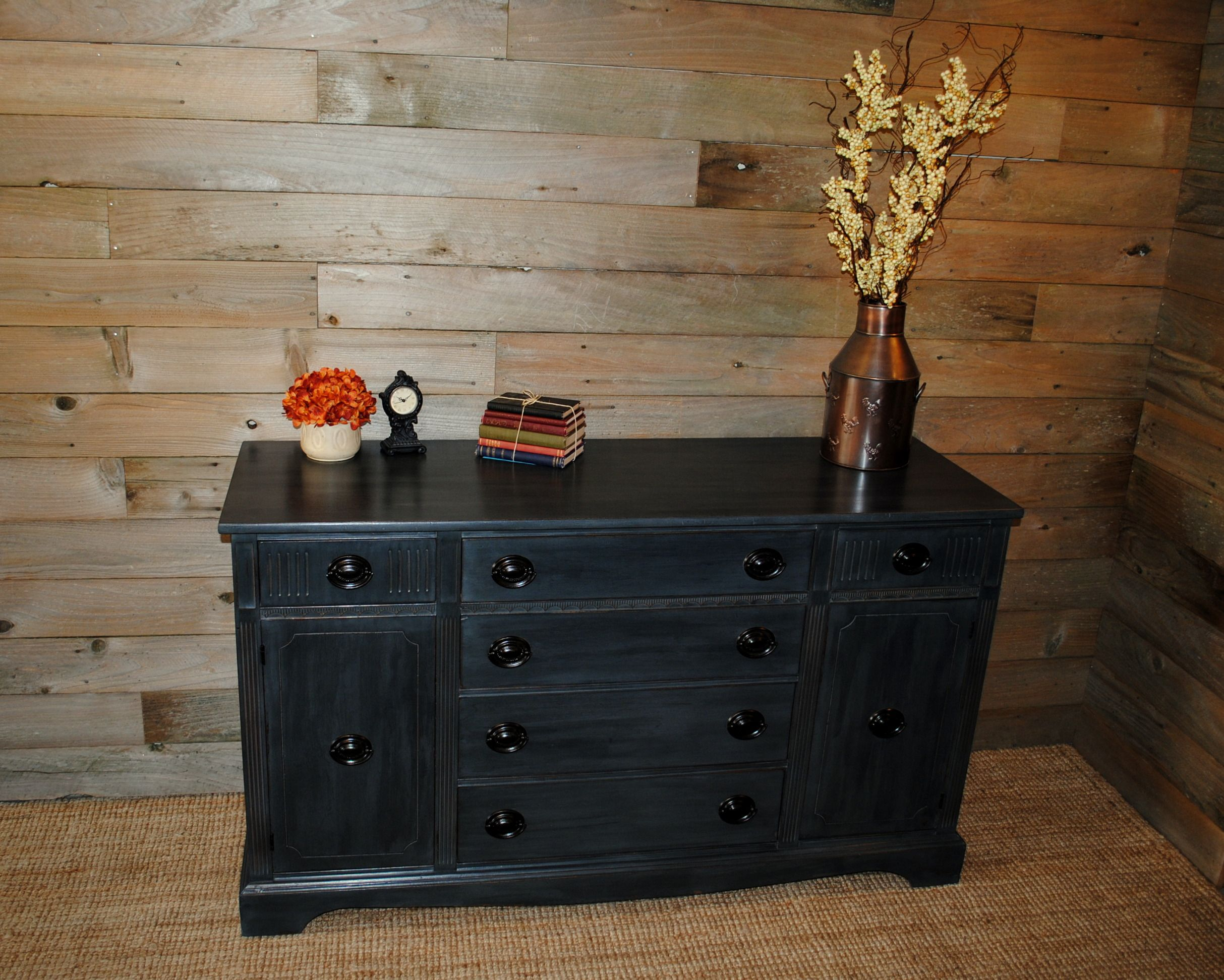 Antique Buffet Done In Ce Ce Caldwell Slate Painted