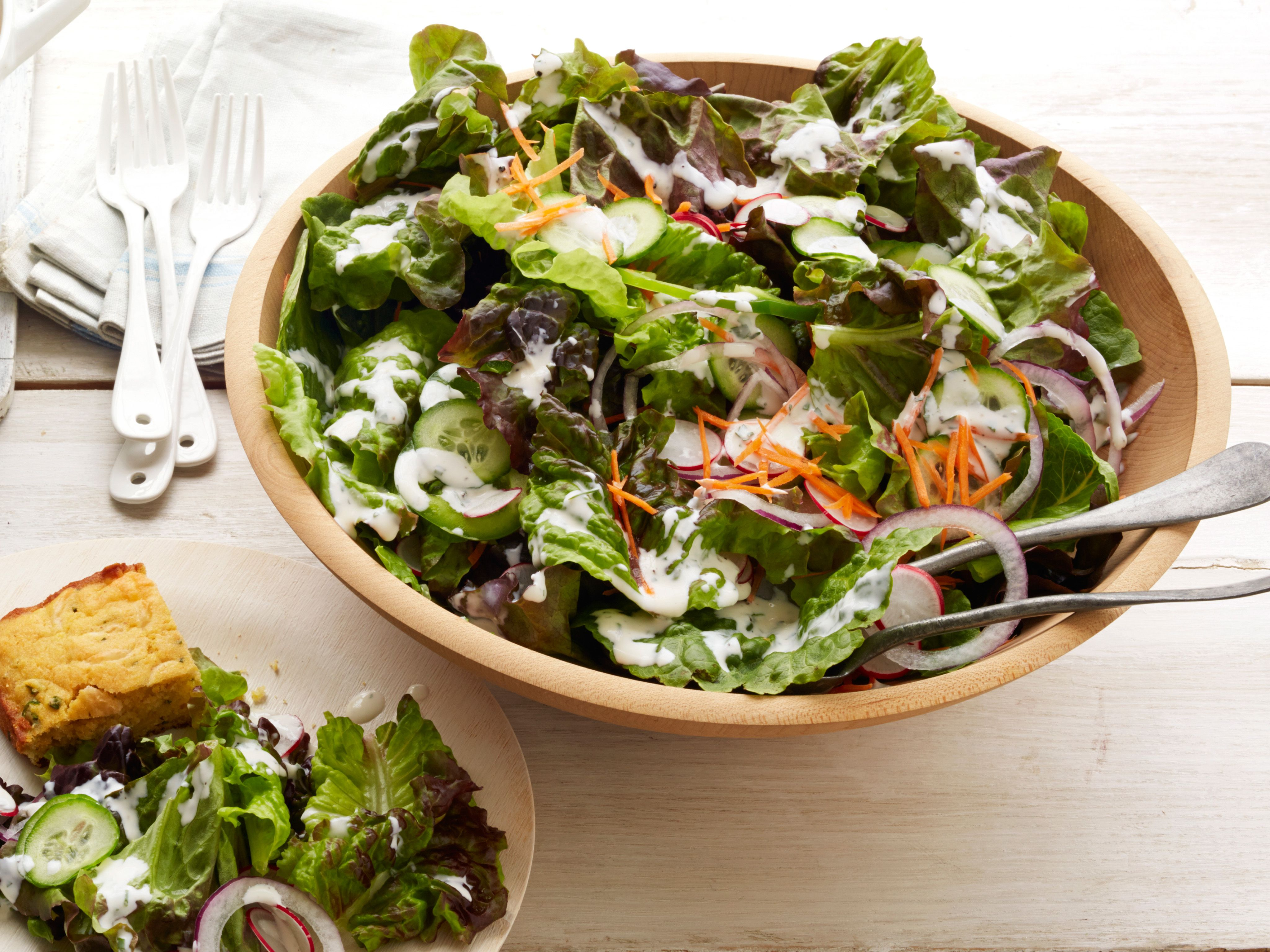 Salad With Buttermilk Ranch Dressing Recipe Buttermilk Ranch Dressing Food Network Recipes Buttermilk Ranch Dressing Recipe