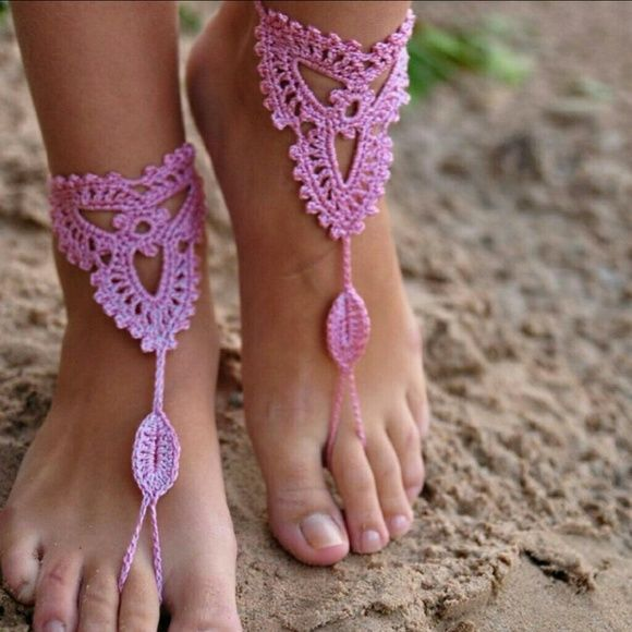 Lace Sandles Barefoot Sandals purple sandals  wedding barefoot Nude Shoes wedding barefoot wedding accessories,Crochet Sandals
