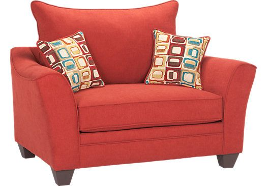 Santa Monica Red Chair Oversized Chair Living Room Affordable Chair Comfortable Living Room Chairs Living room chairs for sale