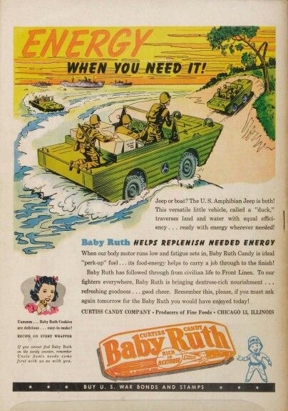 Old Baby Ruth candy bar ad | Vintage ads