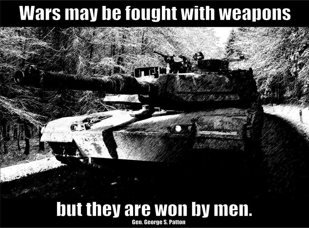 General Patton POSTER Wars May Be Fought with Weapons but They Are Won by Men