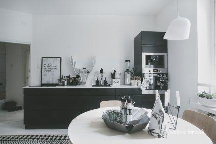 Werkplek Keuken Inrichten : Kleine werkplek met glazen schuifdeur in de keuken keuken