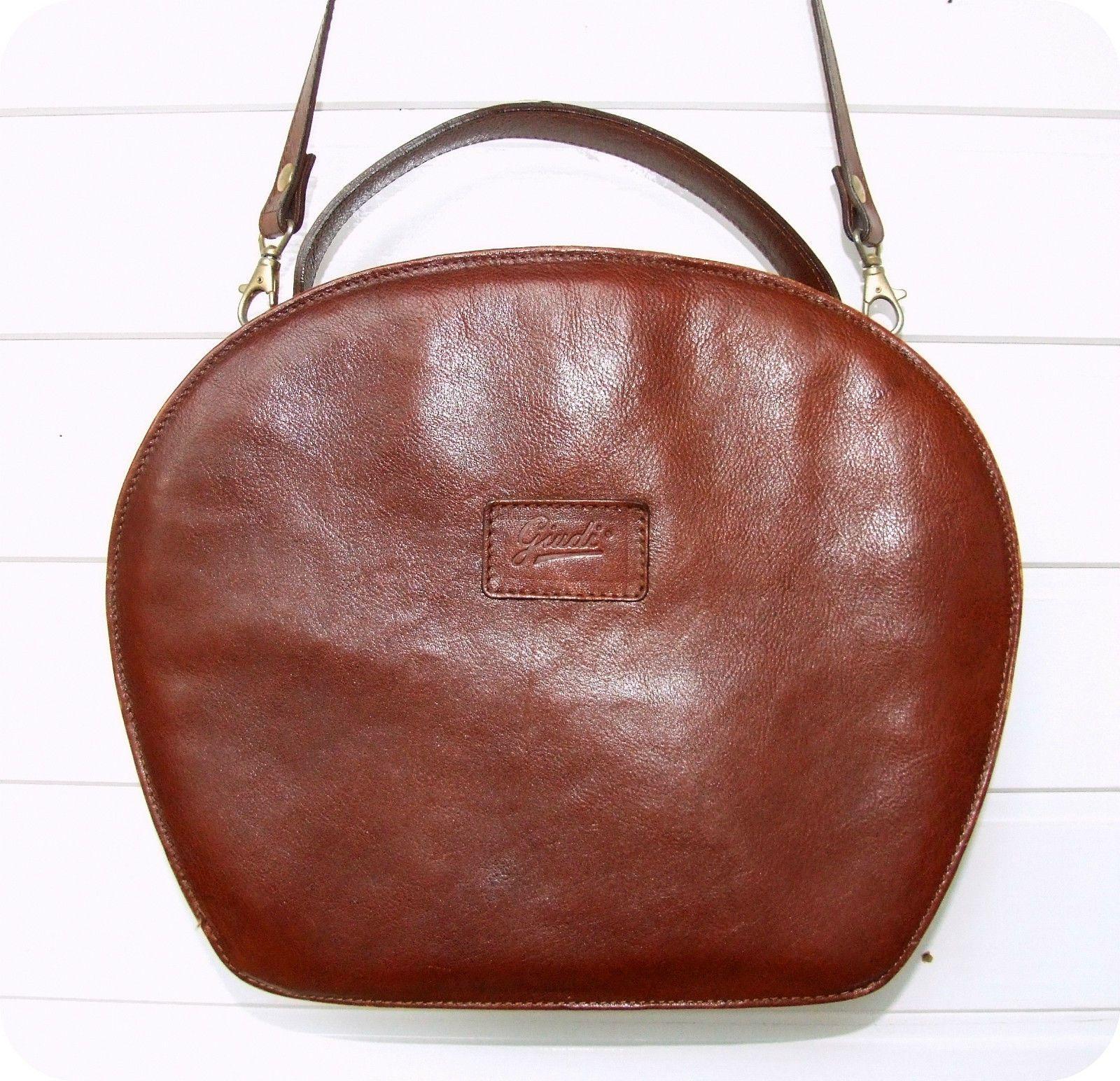 Vintage GIUDI Leder Tasche Handtasche Bag Leather Purse Umhänge ...