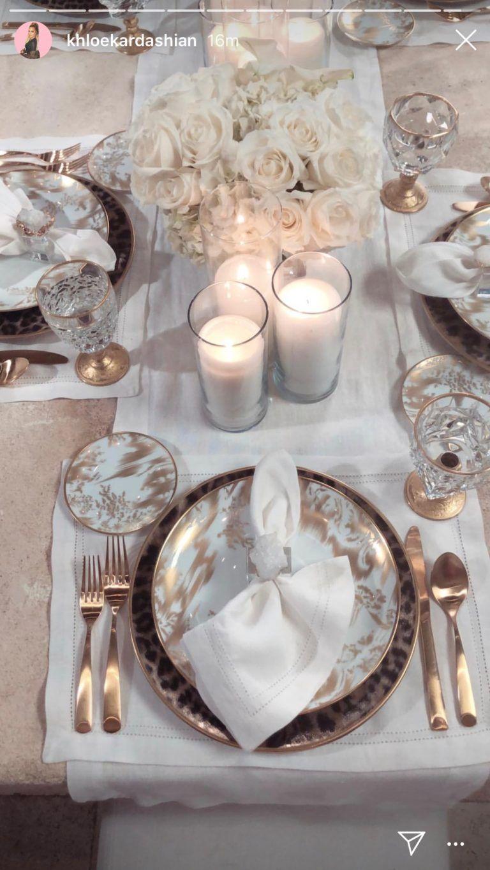Khloe Kardashian's Gold and Black Leopard China Plate