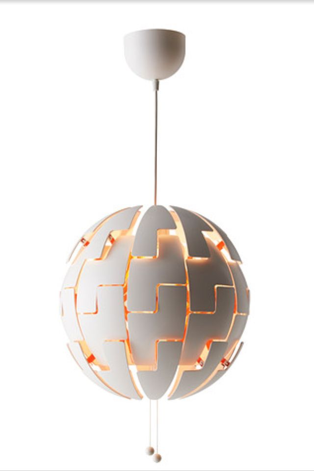IKEA planet pendant light White and orange | Ikea ps 2014