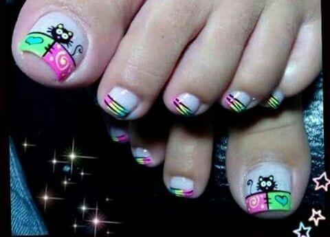 Resultado De Imagen Para Unas Decoradas Pies Nails Pinterest