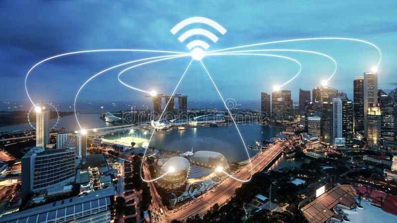 Singapore Smart City And Wifi Communication Network Smart City And Network Con Ad City Wifi Internet Plans Communication Networks High Speed Internet