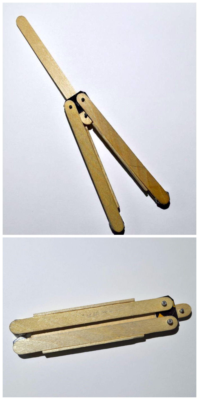 Popsicle Stick Butterfly Knife アイスキャンディー 木工 蝶