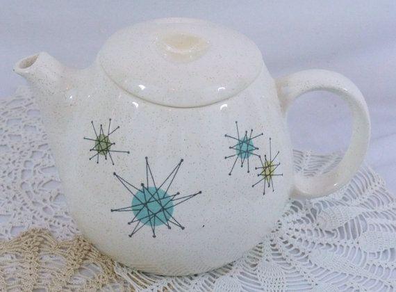 Franciscan Starburst Teapot w/ Lid Atomic Mid Century Modern ...