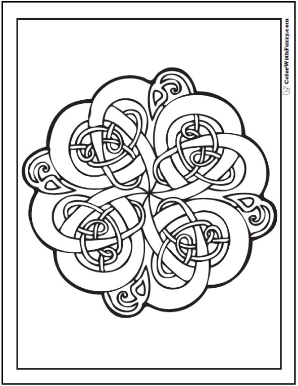 90 Celtic Coloring Pages Irish Scottish Gaelic Projects To