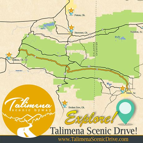 The Talimena Scenic drive winds 54 miles along the crest of Rich ...