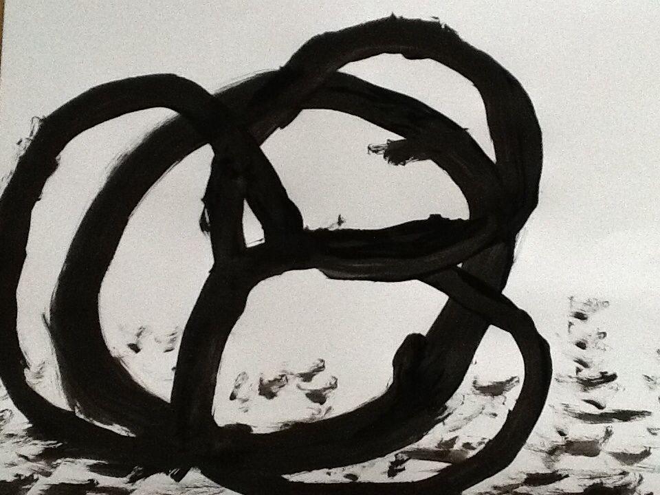 Eu fiz essa pintura, porque eu vi num livro de  arte e me enspirei.  Gustavo B