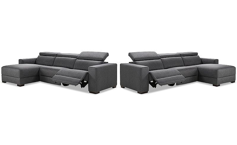 Marvelous Nevio 3 Pc Fabric Sectional Sofa With Chaise 1 Power Bralicious Painted Fabric Chair Ideas Braliciousco