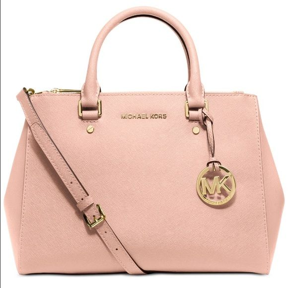 4fb357a68311 🎀BNWT- Michael Kors Sutton Medium Satchel 🎀BNWT- Michael Kors Sutton  Medium Satchel. Color is pastel pink, comes with dust bag.