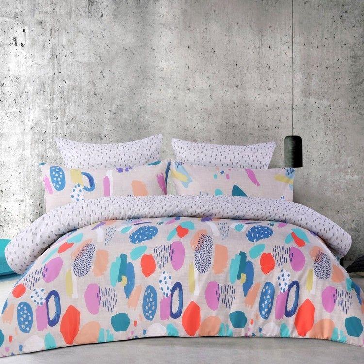 Mode Modern Art Quilt Cover Set Multicoloured Single Quilt Cover Sets Quilt Cover Single Size Bed