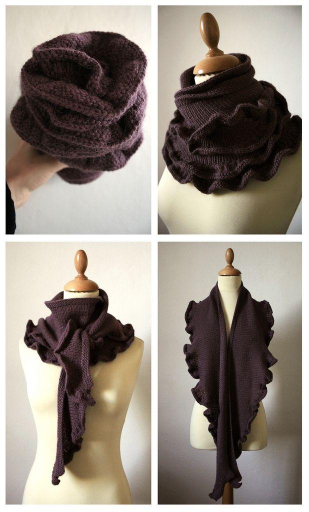 Just Enough Ruffles pattern by Laura Chau   Pinterest   Scarf ...