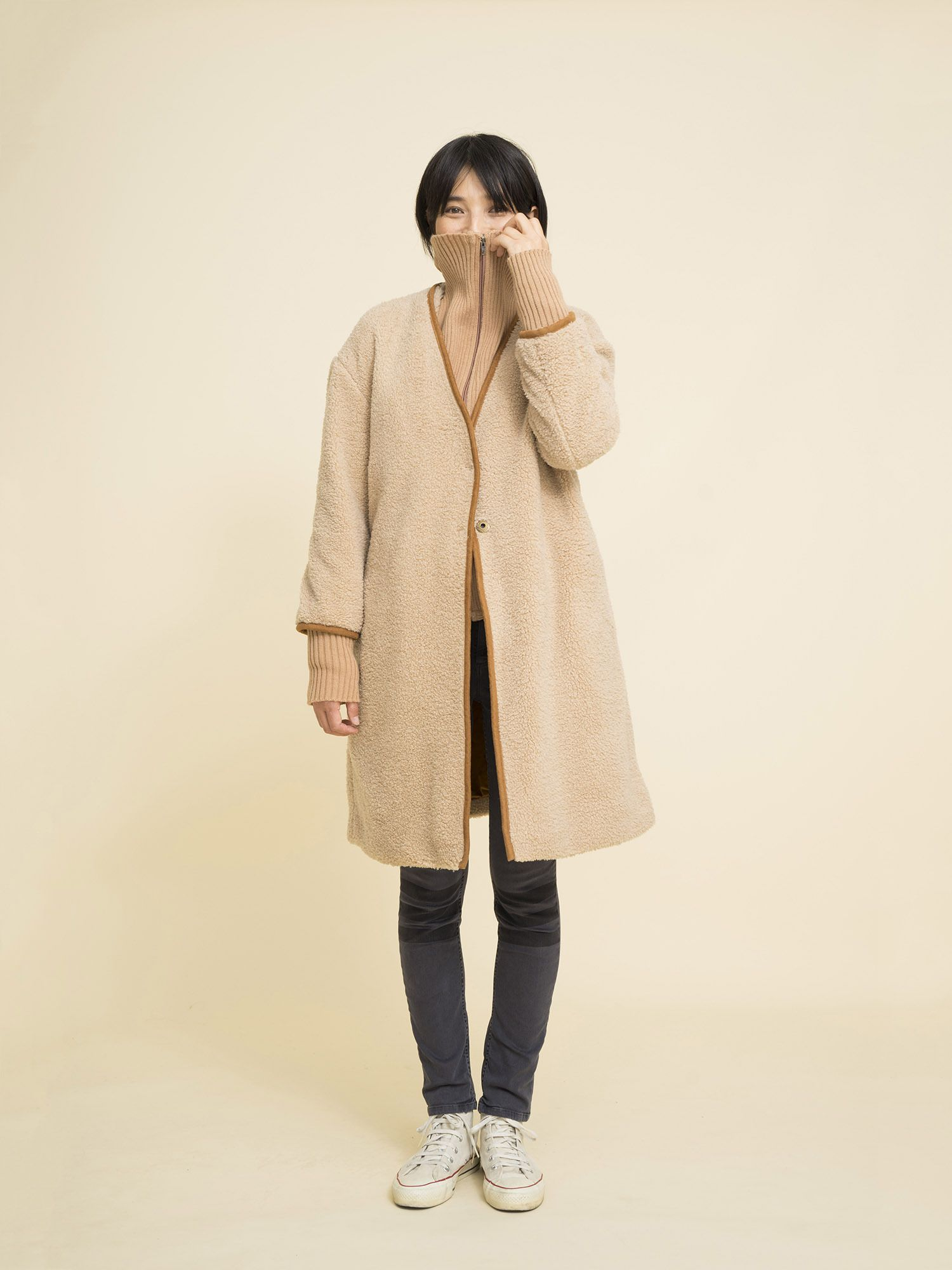 Sheep Skin Coat | Coat, How to wear, Normcore