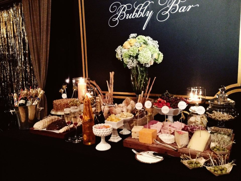 FABULOUS 40th BIRTHDAY PARTY Cheese Table Bar Set Up