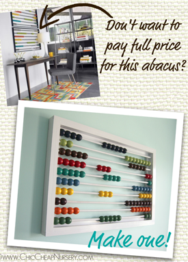 DIY Large Wall Abacus  What? I love them all!  Time to get my craft on! :)