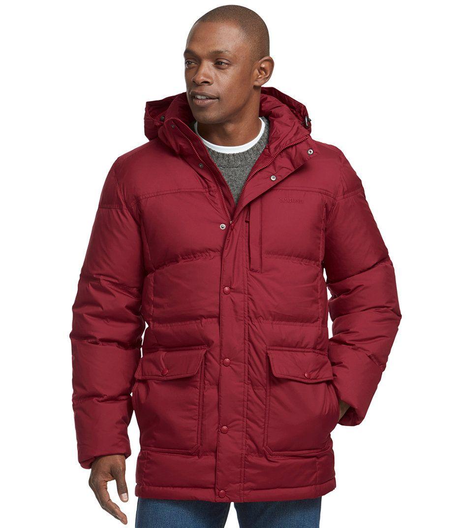 Ll bean men's trail model down hooded parka
