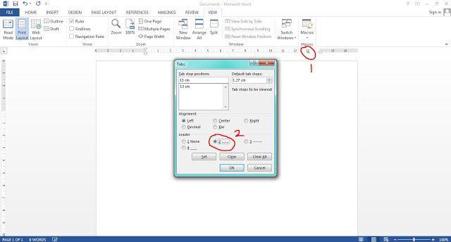 Cara Membuat Daftar Isi Manual Cara Membuat Daftar Isi Makalah Di