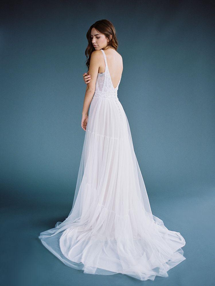 da7768aef0 Bohemian Flowing Wedding Dress from Allure Bridals