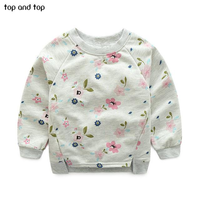 Toddler Kids Baby Girls Long Sleeve Cotton Sweater Tops T-Shirt Pullover Clothes