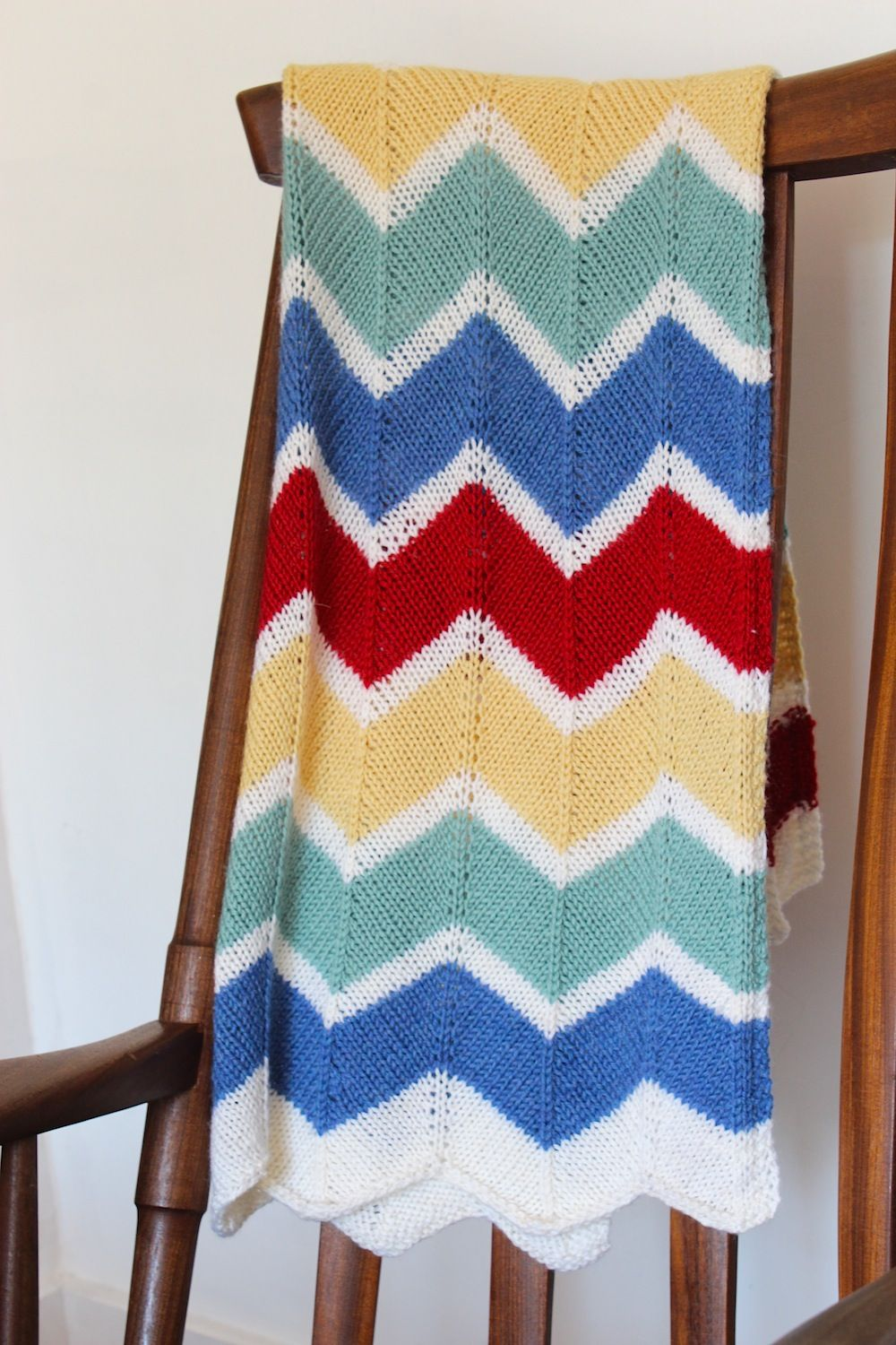 Handknit chevron rainbow blanket wolves in london crochet and rainbow chevron baby blanket make this gorgeous knitted rainbow chevron blanket for a new arrival includes link to free pattern and pattern notes bankloansurffo Image collections