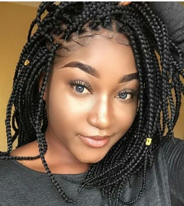 Shoulder Length Box Braids Bob Braids Hairstyles Hair Styles Small Box Braids Hairstyles