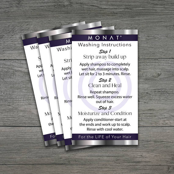 Monat Washing Instructions Monat Business Cards Hair Care