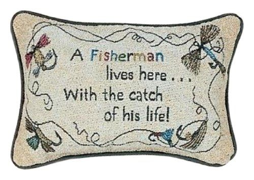 Manual 12 5 X 8 5 Inch Decorative Throw Pillow A Fisherman Lives